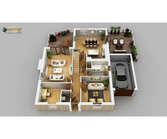 Residential Apartment 3D Floor Plan Design by Architectural Rendering Services, Wasilla – Alaska