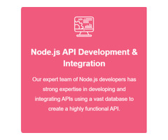 Hire Node.js Developers For A Secure Product, USA