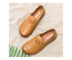 Women Casual Breathable Soft Sole Flats Loafers Shoes