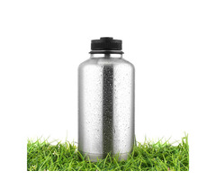 BIKIGHT 1.8L Insulated Stainless Steel Double Wall Vacuum Cycling Water Bottle Outdoor Hiking Bottle