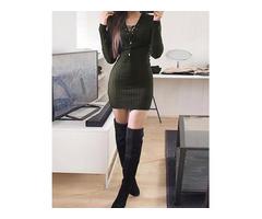 Trendy Eyelet Lace-up Slinky Mini Dress