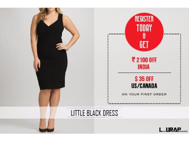 Buy Trendy Little Black Dress For Plus Size Women Clothing Lake