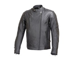 Men Motorcycle Armor Leather Jacket
