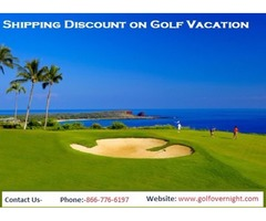 Get Online Huge Shipping Discount for Golf Vacation