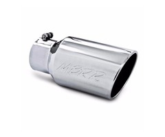 """MBRP 4""""Inlet 6"""" Outlet Rolled End Angled Cut Diesel Exhaust Tip T5073"""