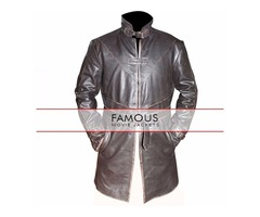 WATCH DOGS AIDEN PEARCE TRENCH LEATHER COAT
