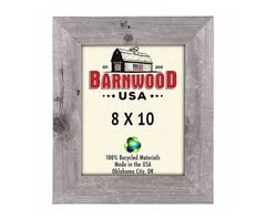 "Barnwood 8x10 Standard Picture Frame 2"" Wide, Weathered Gray"