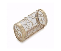 Seaman Schepps Vanity Case 14K Yellow Gold Clear Liner