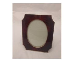 Italian Red Frame Made from Enamel Silver
