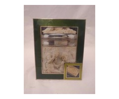 Green Italian Frame made from Enamel on Silver