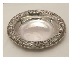 Sterling Silver Three Piece Dessert Bowl by Kirk & Son