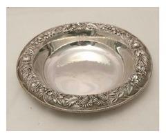 Sterling Silver Three Piece Dessert Bowl by Kirk & Son
