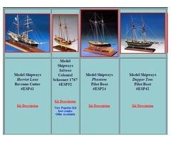 Wood model ship kits for sale