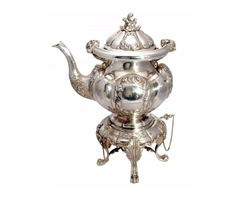 Bellini, Firenze, Italian Sterling Silver Tea Kettle on Stand