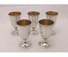 Five Rare Coins Silver Goblets