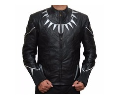 CIVIL WAR BLACK PANTHER HIGH QUALITY LEATHER JACKET