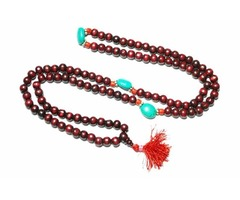 Zen Buddhist Malabeads Rose Wood Turquoise Beads Prayer Yoga Japamala