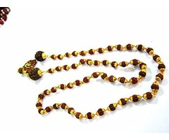 Kundalini Malas- Golden Capped Ek Mukhi Rudraksha Necklace