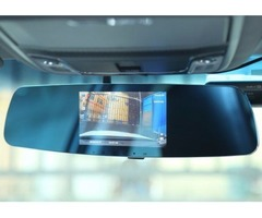 "Dual Dash Cam, Crenova 5""LCD 170°1080P Dual Lens Rearview Mirror Car DVR"