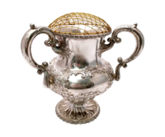 Victorian Style Sterling Silver Three-Handled Loving Cup