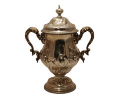 Large Sterling Silver Victorian Style Two-Handled Trophy Cup