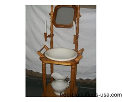Wash stand with barley twist legs no breaks or repairs all original