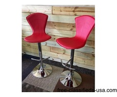 Red Adjustable new bar stools