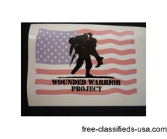 Wounded Warrior Project Decal Sticker For Sale Tulsa