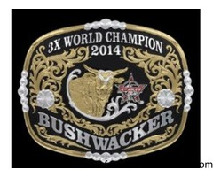 Collector's Edition Bushwacker 3X World Champion Buckle