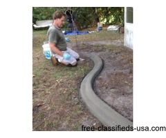 custom concrete curbing landscape edging DIY