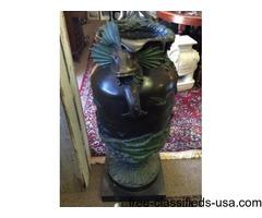 Fine Antique Bronze Sculpture Garden Urn