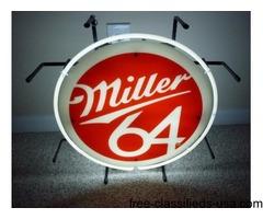 Miller 64 Neon Sign