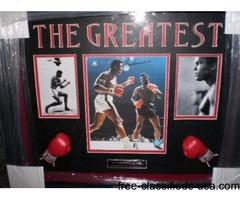 the greatest MUHAMMAD ALI LTD AUTOGRAPH SHADOWBOX NICE!