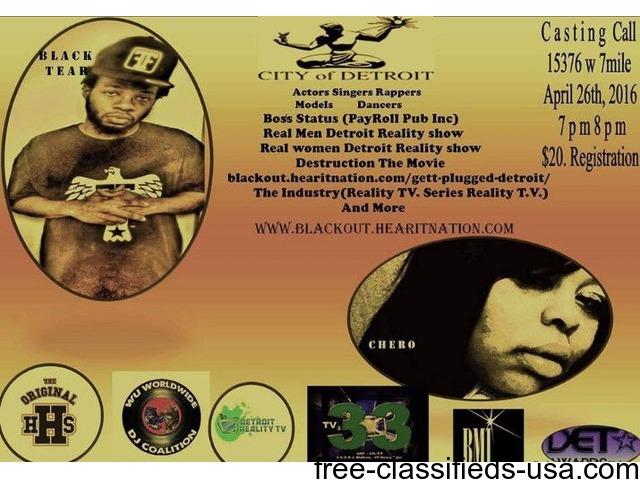 APRIL 26TH 7-8PM Casting Call at the Original Hip Hop Shop