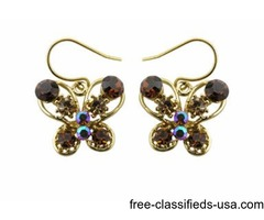 18k Gold Plated Fashion Crystal Hook Earring