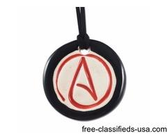 Best Quality Circle Atheist Pendant Online