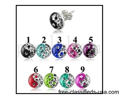 For Online Sale Multi Crystal Ying Yang Earring with Epoxy Cover