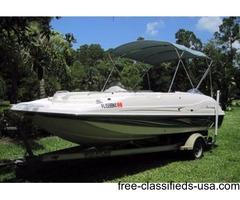 2008, 20' HURRICANE GS-202 FUN DECK with Road King
