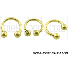 For Online Sale Gold Circular Barbell With Touch Ball