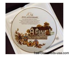 Avon 10th Anniversary Plate