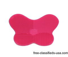 Buy Fancy Pink Silicone Makeup Brush Cleaning Mat