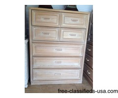 Lexington solid wood upright chest of drawers, excellent condition