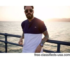 Buy latest collection of Collarless Polo T-shirt