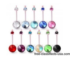 For Online Sale BioFlex Base Jeweled Navel Ring Body Jewelry