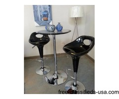 Black adjustable new bar stools