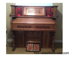 Beautiful Antique Oak Pump Organ