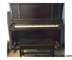 Sterling 1917 Antique Cabinet Grand Upright Piano