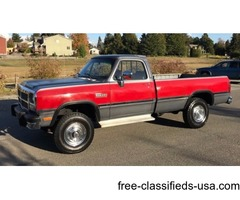 Sell 1991 Dodge W250 LE