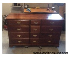 SOLID CHERRY DRESSER FOR SALE
