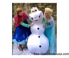 Invite a Princess or Snowman to your event!